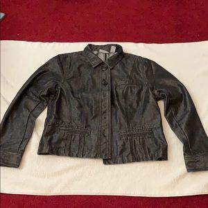 Chico's Platinum Black Denim Jacket
